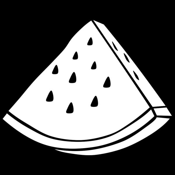 Watermelon Melon Outline PNG Clip art