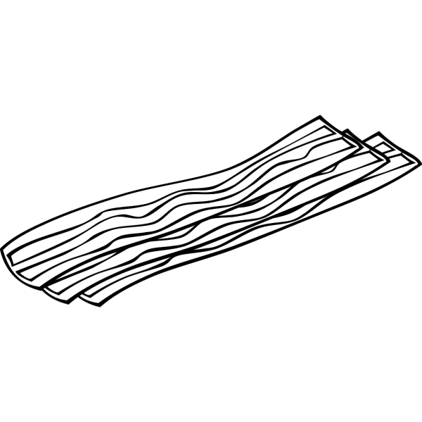Bacon (b And W) PNG image