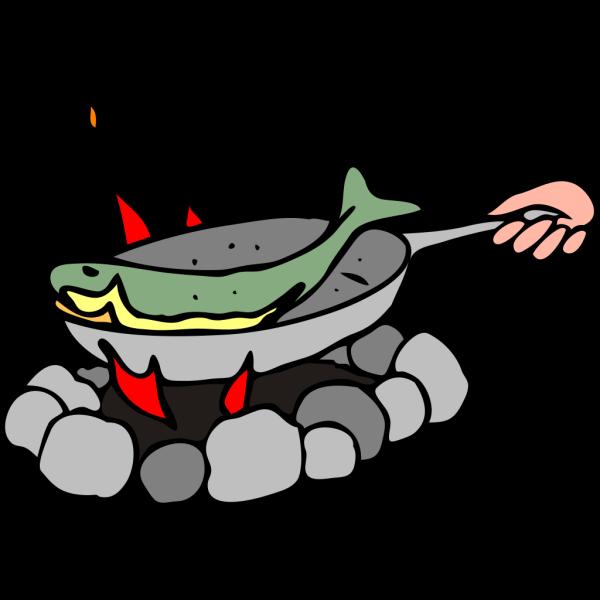 Frying Fish PNG Clip art