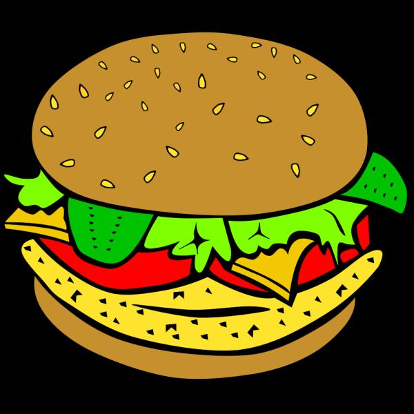 Chicken Burger PNG Clip art