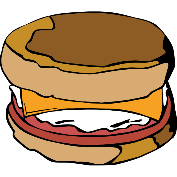 Egg On Muffin PNG Clip art