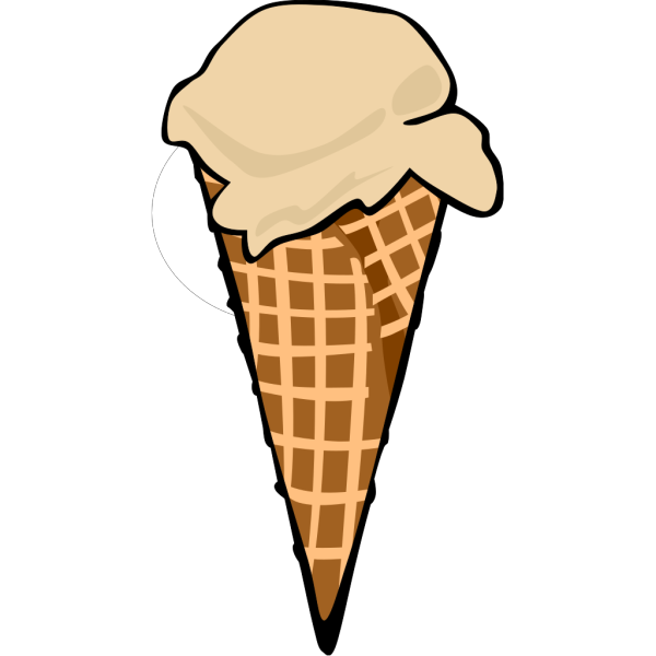 Ice Cream Cone (1 Scoop) PNG Clip art