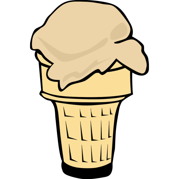 Ice Cream Cone (1 Scoop) PNG Clip art