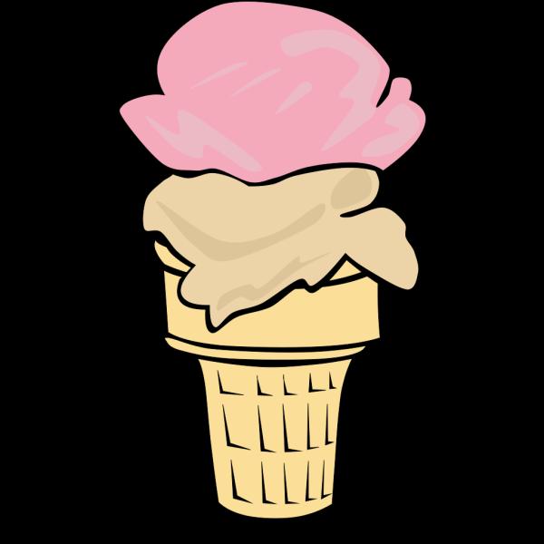 Ice Cream Cone (2 Scoop) PNG Clip art