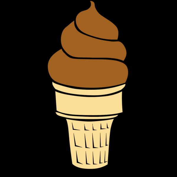 Chocolate Soft Serve Ice Cream Cone PNG Clip art