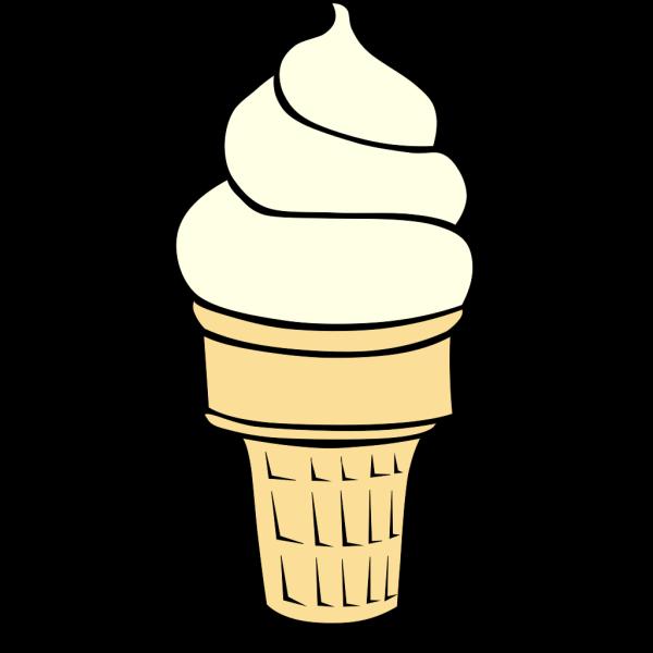 Vanilla Soft Serve Ice Cream Cone PNG Clip art