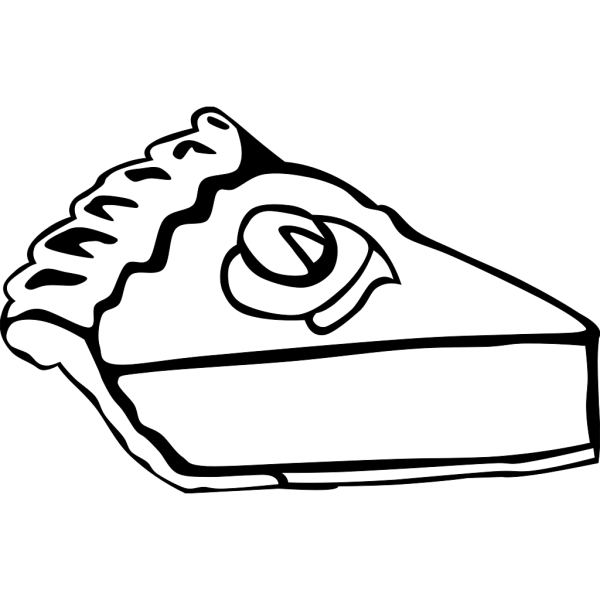 Pumpkin Pie (b And W) PNG Clip art