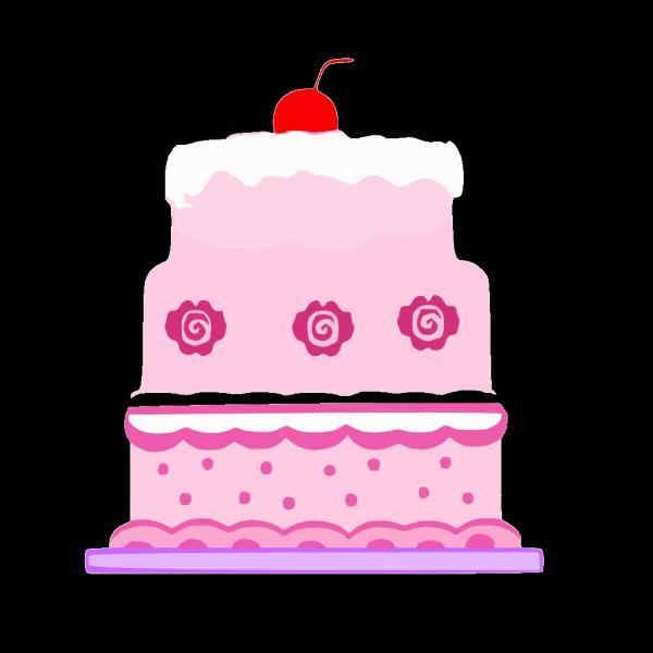 Pink Cake PNG Clip art