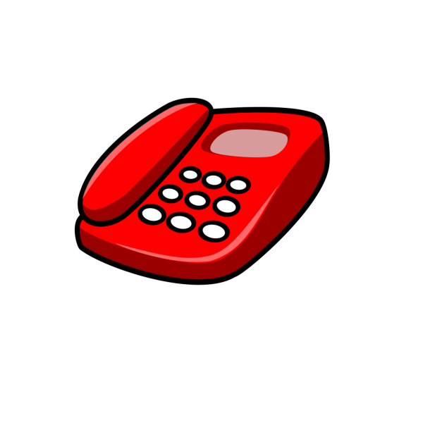 Red Telephone PNG Clip art