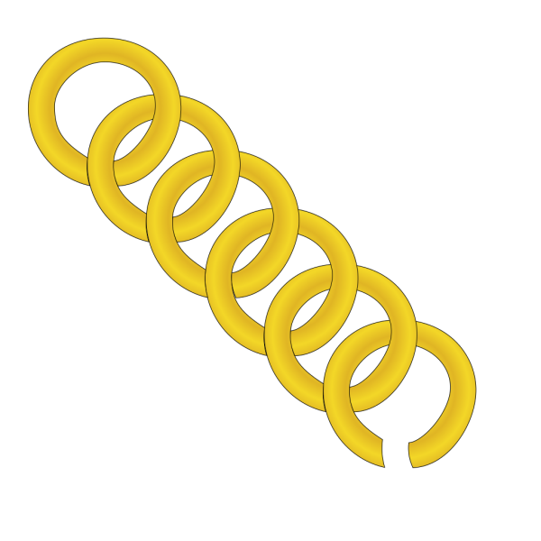 Gold Chain Of Round Links PNG Clip art