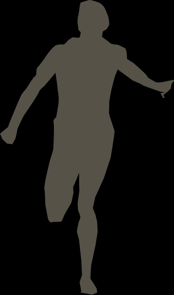 Running Blue Stick Man PNG Clip art