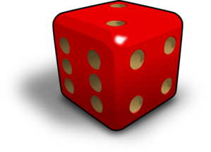Two Red Dice PNG Clip art