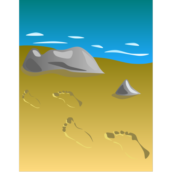 Footprints In Sand PNG Clip art