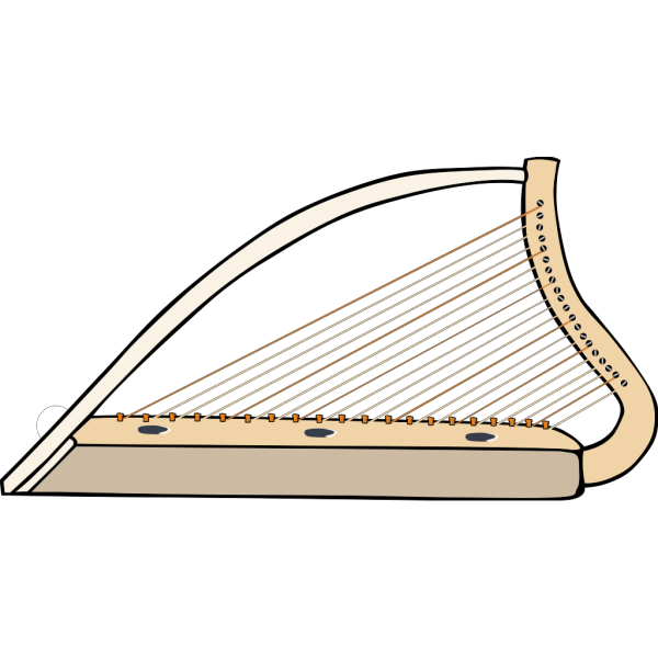 Celtic Harp Simple PNG images