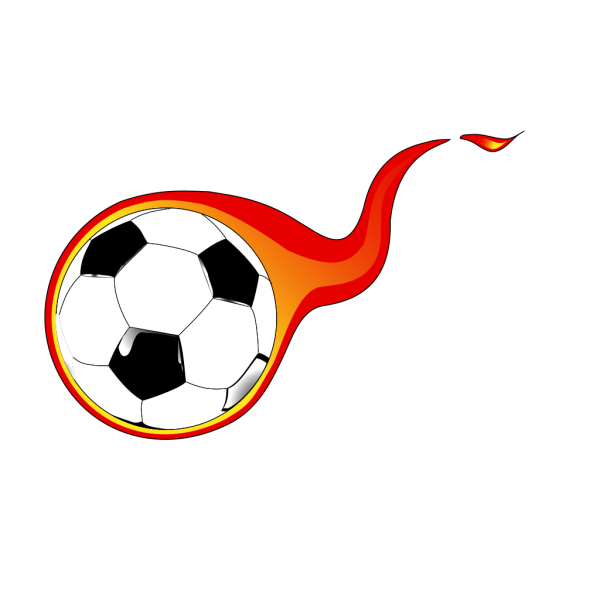Flaming Soccer Ball PNG clipart