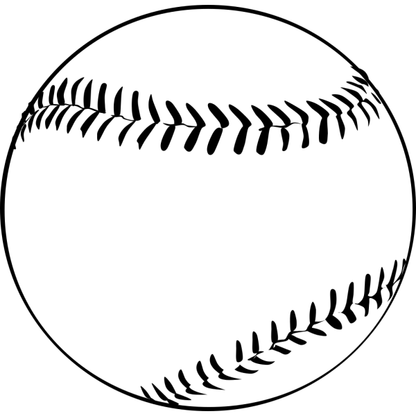 Baseball (b And W) PNG icon