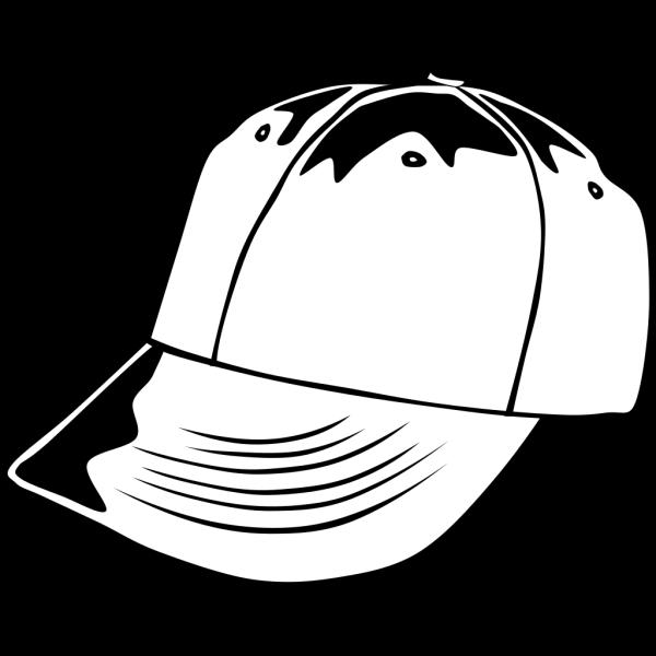 Baseball Cap (b And W) PNG Clip art