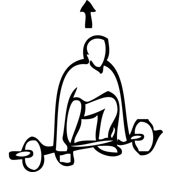 Weight Lifting Outline Sports PNG Clip art