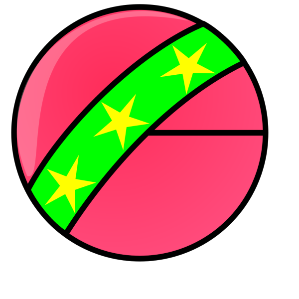Toy Ball With Stars PNG Clip art