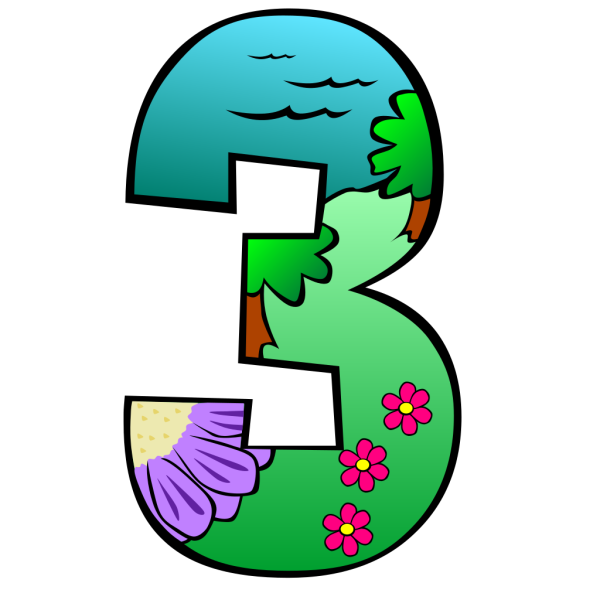 Creation Day 3 Number PNG Clip art