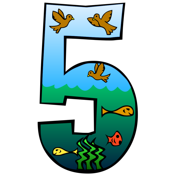 Creation Day 5 Number PNG Clip art