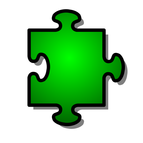 Jigsaw Green Puzzle Piece PNG Clip art