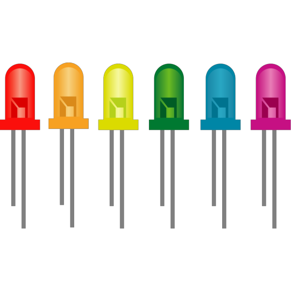 Rainbow Of Light Emitting Diodes PNG Clip art