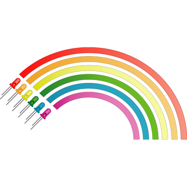 Rainbow From Light Emitting Diodes PNG Clip art