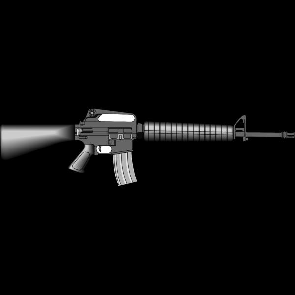 M16 Gun PNG Clip art