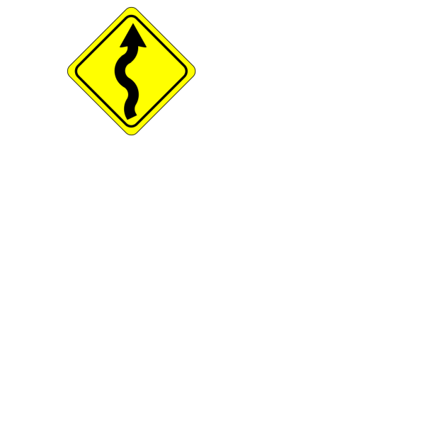 Curvy Road Ahead Sign PNG icon