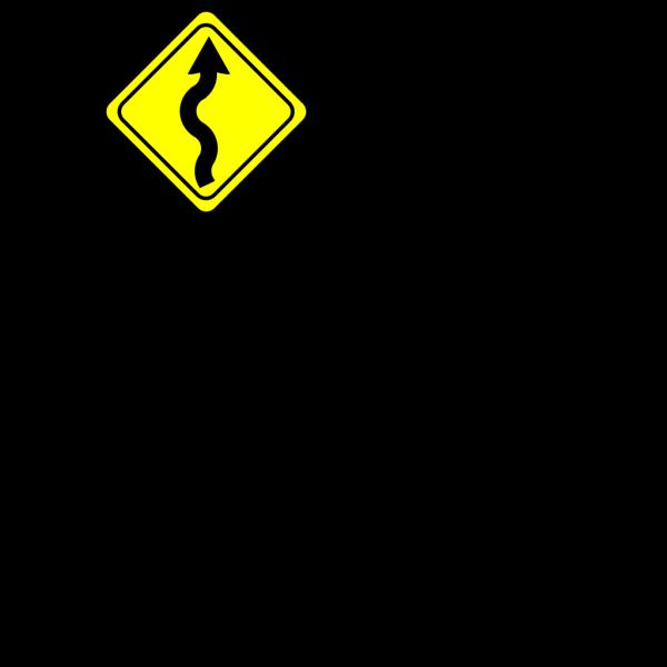Curvy Road Ahead Sign PNG Clip art