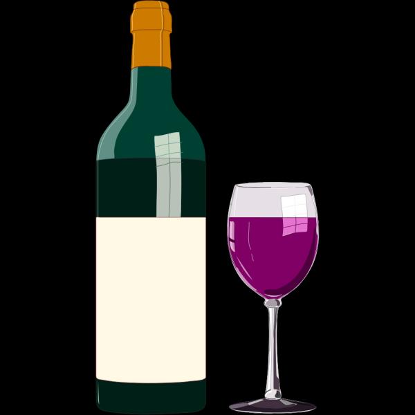 Bottiglia Di Vino Pregiato PNG Clip art