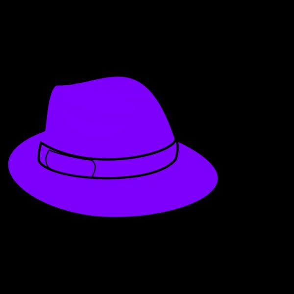 Purple Hat PNG clipart