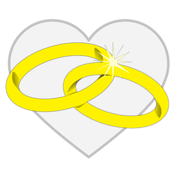 Wedding Rings2 PNG Clip art