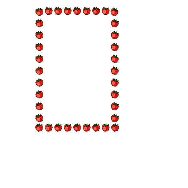 Strawberry Border PNG Clip art