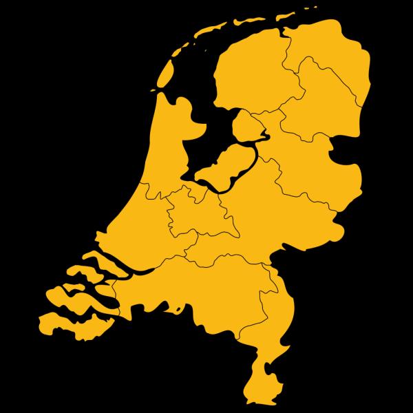 Netherlands Map PNG Clip art