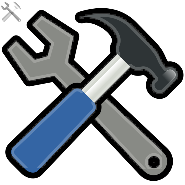 Andy Tools Hammer Spanner PNG Clip art