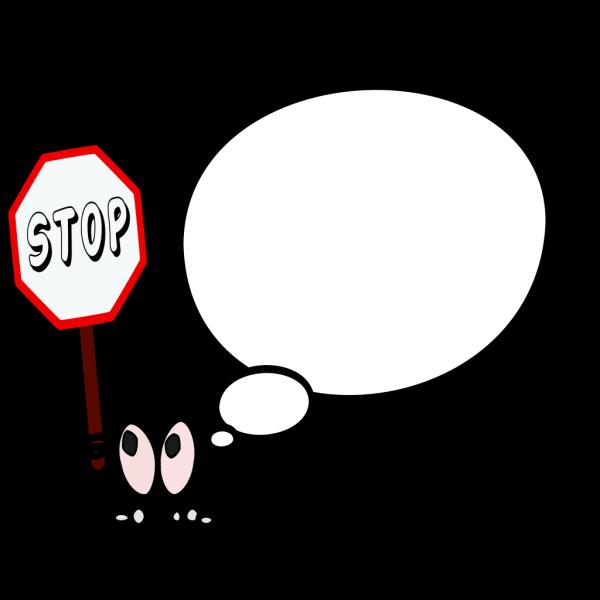 Bulle Gauche Stop PNG Clip art