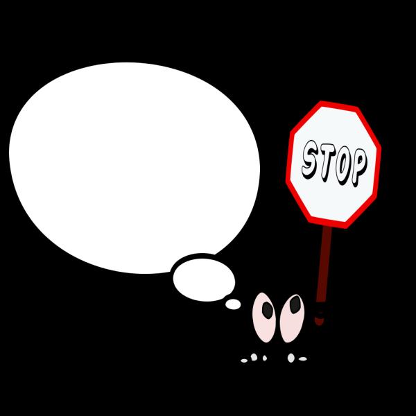 Bulle Droite Stop PNG Clip art
