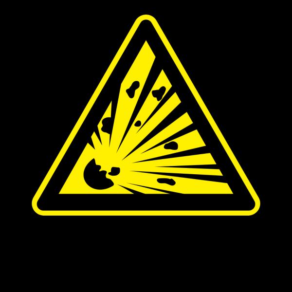 Sign Explosion Risk PNG Clip art