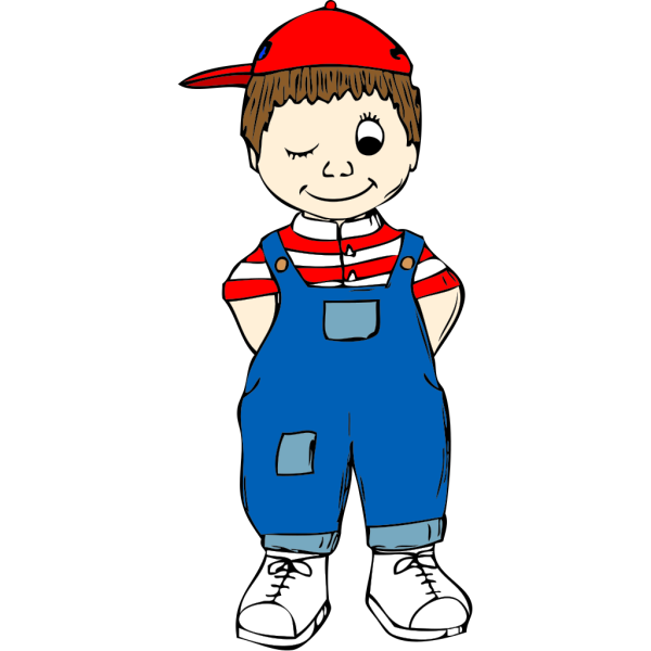 Winking Boy PNG images