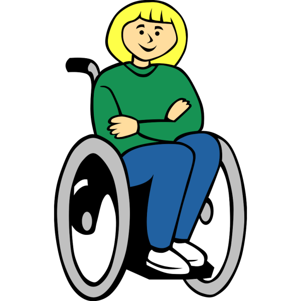Girl In Wheelchair PNG Clip art