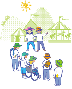 Kids At Theme Park PNG Clip art