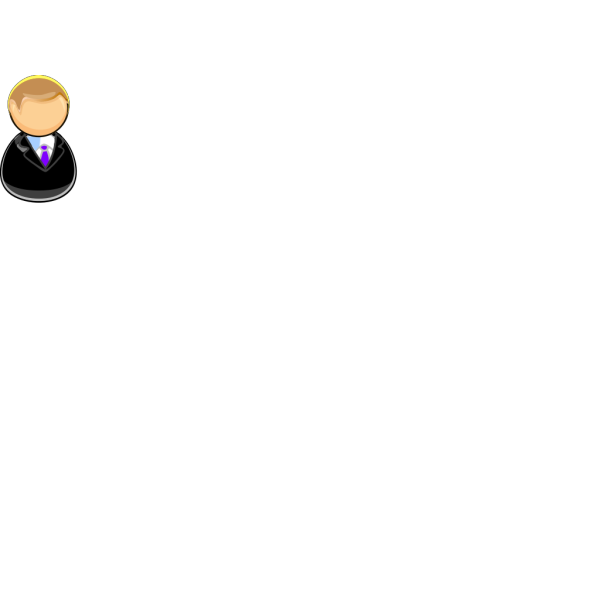 Man In Suit Outline PNG Clip art