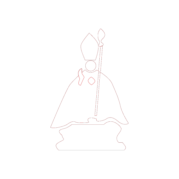 Medieval Priest With Sacrament PNG clipart