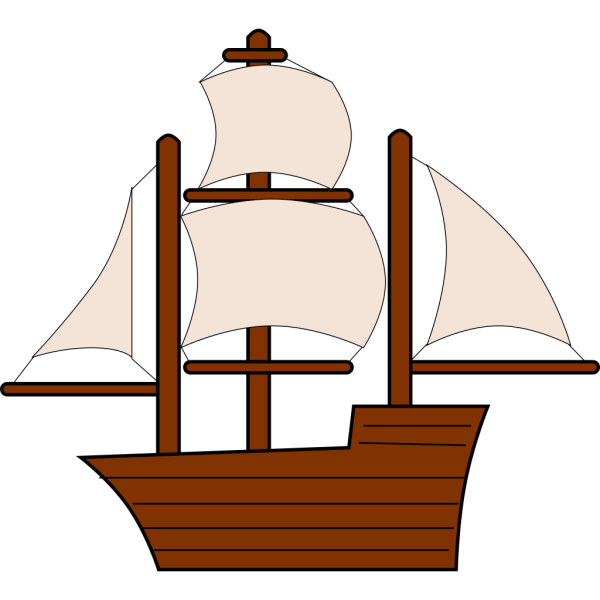 Unfurled Sailing Ship PNG Clip art