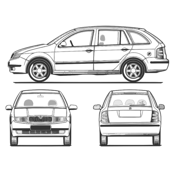 Fabia Car Back View PNG icons
