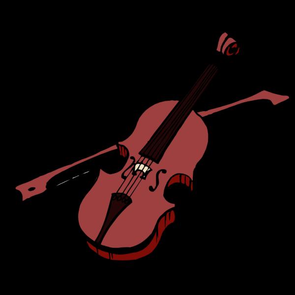 Brown Violin PNG Clip art