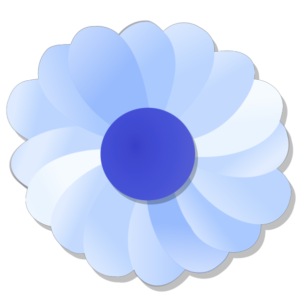 Blue Flower PNG icon