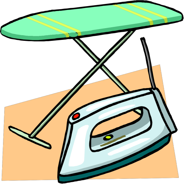 Ironing Board And Iron PNG Clip art